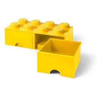 Žltý úložný box s dvoma zásuvkami LEGO®