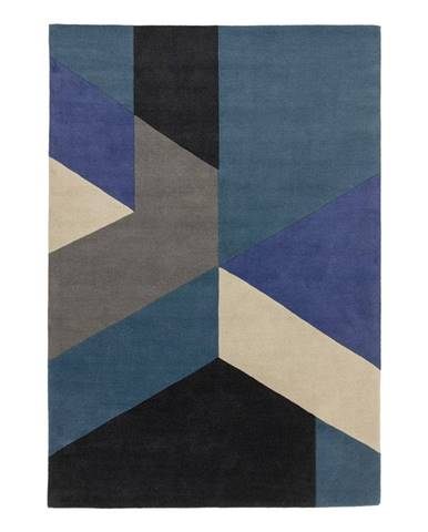 Modrý koberec Asiatic Carpets Big Geo, 160 x 230 cm
