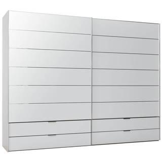 Dieter Knoll SKRIŇA S POSUVNÝMI DVERMI, biela, 278/222/68 cm - biela