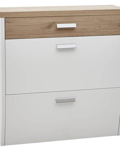 Dieter Knoll SKRINKA NA TOPÁNKY, biela, farby dubu, divý dub, 92/95/31 cm - biela, farby dubu