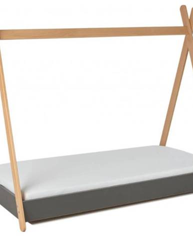 ArtGapp Detská posteľ TIPI so strieškou