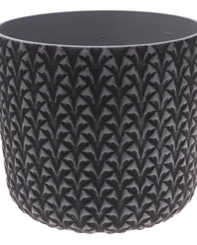 Plastový obal na kvetináč Monza, sivá, 25 x 24 cm