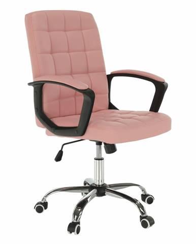 Kancelárske kreslo ružová ekokoža RULIS