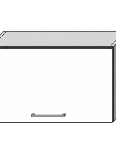 Kuchynská skrinka Vita W60OKGR biely lesk
