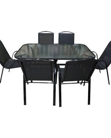 Sada sklenený stôl + 6 stoličiek Himalaya