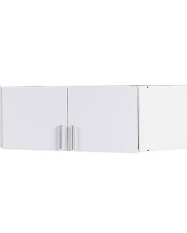 Nadstavec na rohovú skriňu 117 cm lesklá/biela alpská Snow 06a