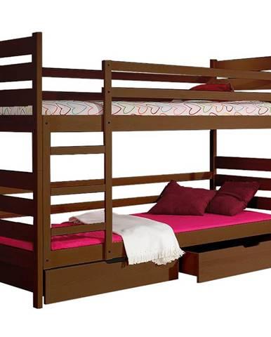 Poschodová posteľ Darek 190x80 orech