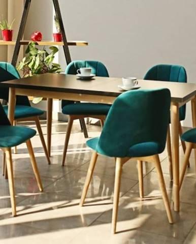 Jedálenský set Bryne-6x stolička,stôl rozklad