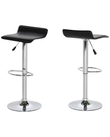 Sada 2 čiernych barových stoličiek Actona Dan