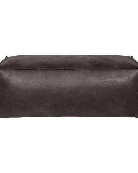 BePureHome Čierny puf s poťahom z recyklovanej kože BePureHome Rodeo