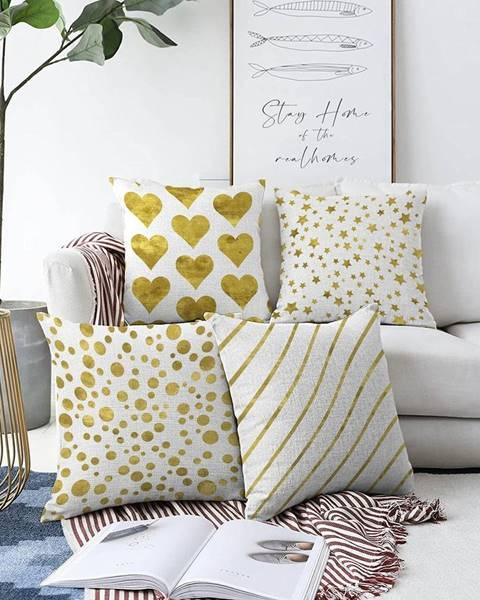 Minimalist Cushion Covers Súprava 4 obliečok na vankúše Minimalist Cushion Covers Elegance, 55 x 55 cm