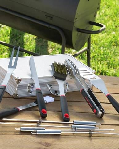 11-dielna sada náradia na grilovanie z antikoro ocele v kufríku InnovaGoods Professional Barbecue