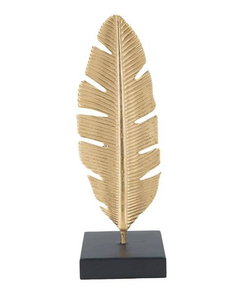 Mauro Ferretti Dekoratívny svietnik v zlatej farbe Mauro Ferretti Feather, výška 30 cm