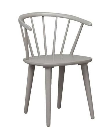 Svetlosivá jedálenská stolička z dreva kaučukovníka Rowico Carmen