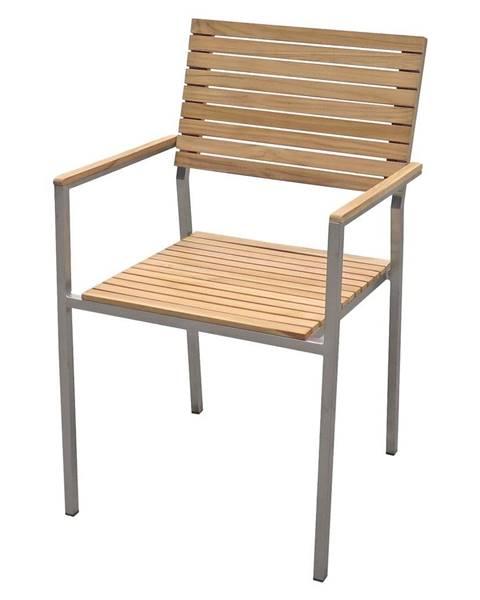 ADDU Záhradná stohovateľná stolička s oceľovou konštrukciou ADDU Denver