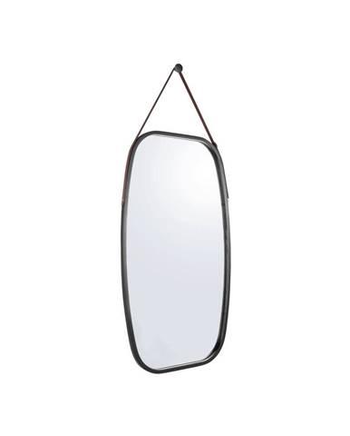 Nástenné zrkadlo v čiernom ráme PT LIVING Idylic, dĺžka 74 cm