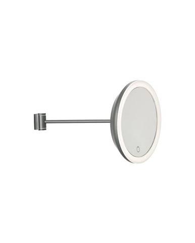 Sivé nástenné kozmetické zrkadlo Zone Eve, ø 17,5 cm