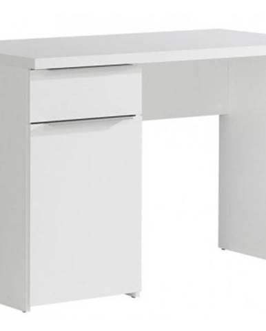 Písací stôl so zásuvkou Opus, biely%