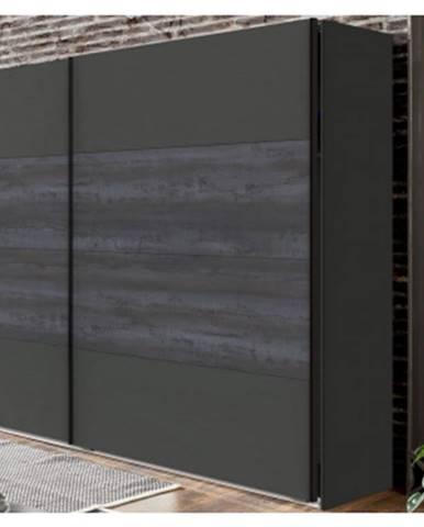 Šatník s posuvnými dverami Göteborg, 270 cm%