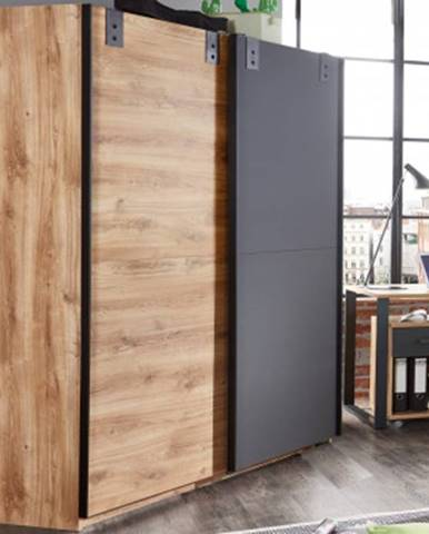 Šatník s posuvnými dverami Liverpool, 180 cm%