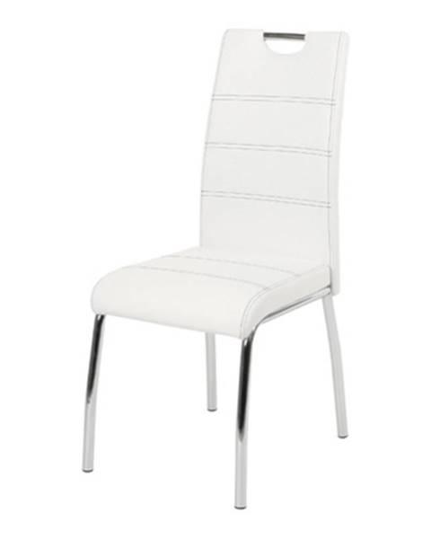 Sconto Jedálenská stolička NOEMI biela/kov
