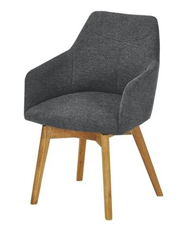 Jedálenská stolička JACKSON antracitová/dub