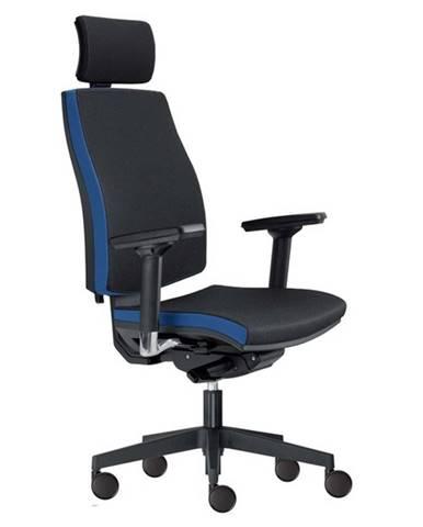 Kancelárska stolička JOHN čierna/modrá