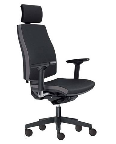 Kancelárska stolička JOHN čierna/sivá