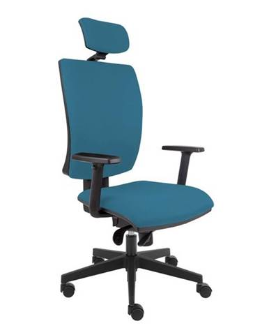 Kancelárska stolička LAUREN modrosivá