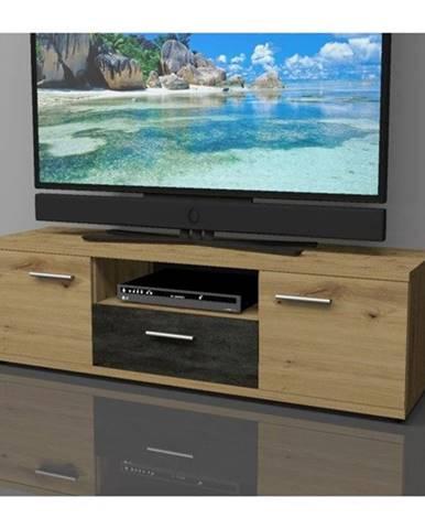 TV komoda NICOLAS dub artisan, výška 39 cm