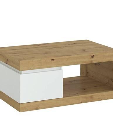 Konferenčný stolík LUCI dub artisan/alpská biela