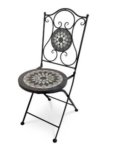 Záhradná stolička US1007 čierna/mozaika