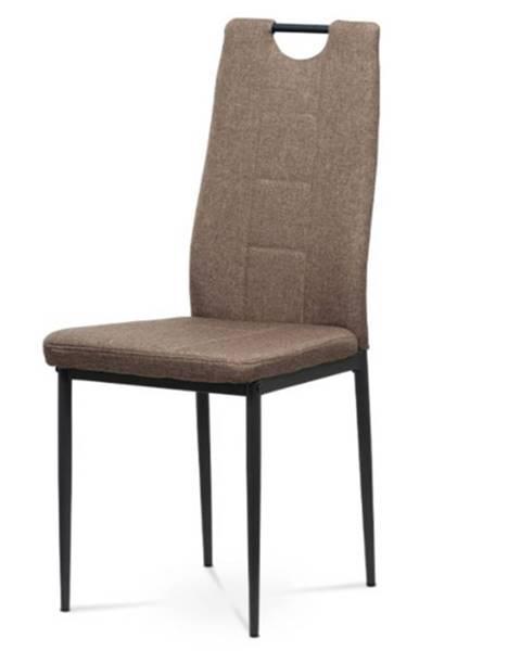 Sconto Jedálenská stolička LEILA hnedá/kov antracit