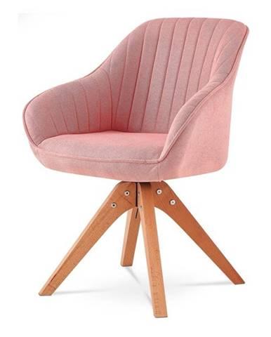 Jedálenská stolička CHIP l ružová/buk