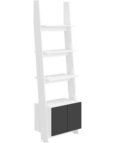 Regál Rack 60-1D Biely/čierna
