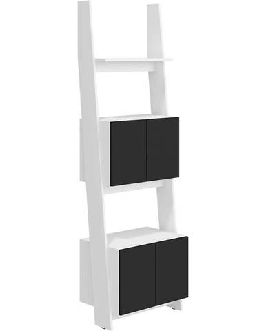 Regál Rack 60-2D Biely/čierna
