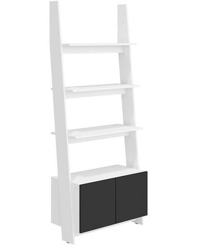 Regál Rack 80-1D Biely/čierna