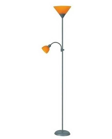 Stojacia lampa  Rabalux Action 4026 strieborná / oranžová