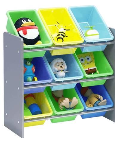 Organizér na hračky viacfarebná/sivá KIDO TYP 3