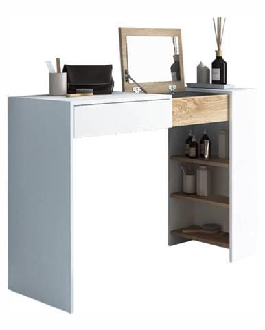 Toaletný stolík/písací stôl biela/dub sonoma ELIS