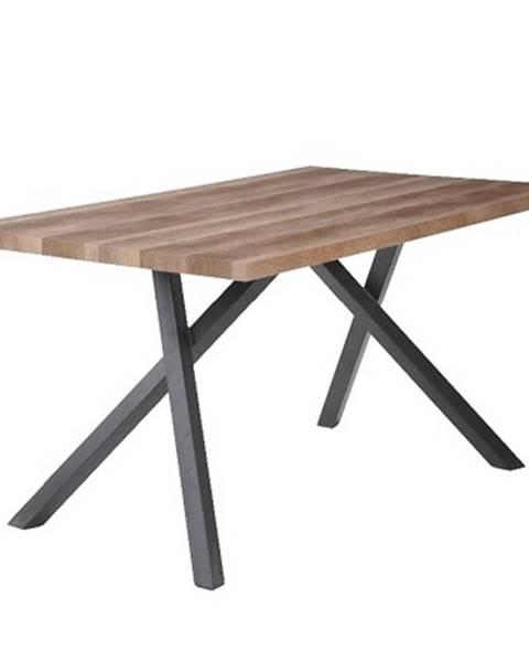Tempo Kondela Jedálenský stôl svetlá slivka/čierna GURDUN poškodený tovar