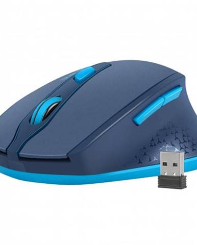 Tichá bezdrôtová myš Natec Siskin, 2400 DPI, modrá