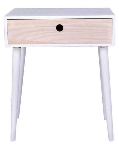 House Nordic Drevený odkladací stolík so zásuvkou HoNordic Parma