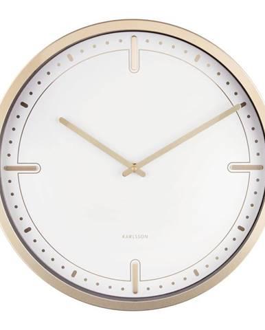 Biele nástenné hodiny Karlsson Dots, ø 42 cm