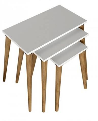 Konferenčný stolík Marko - set 3 kusov