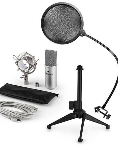 Auna Auna MIC-900S V2, USB mikrofónová sada, kondenzátorový mikrofón + pop-filter + stolný statív