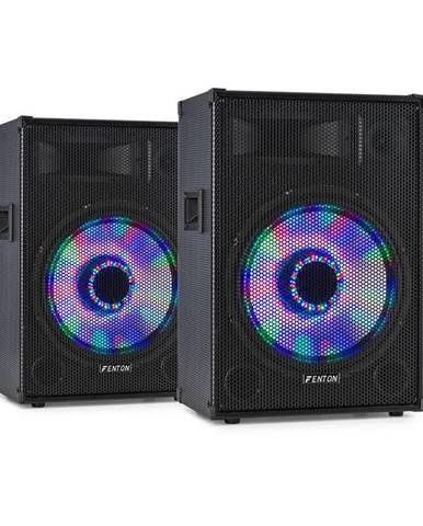 "Fenton TL12LED, pár 3-cestných pasívnych reproduktorov, RGB-LED, 12"" Woofer, 600 W tweeter"