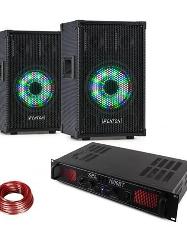 Fenton TL8LED, sada zariadení, PA reproduktor + Skytec SPL1000BT, PA zosilňovač