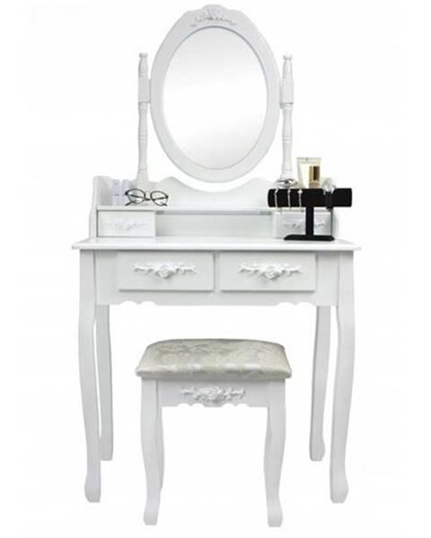 KIS Toaletný stolík s taburetom Emilie, 143 x 74 x 40 cm
