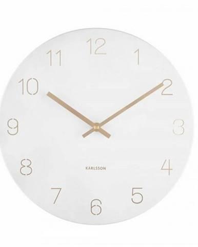 Karlsson 5788WH dizajnové nástenné hodiny, pr. 30 cm